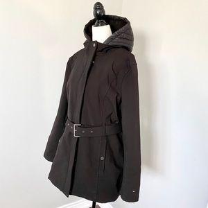 Tommy Hilfiger soft shell rain jacket with hood